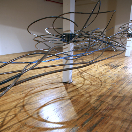 "Dancing with ""In Flux"" sculpture by Isabelle Pelissier on Friday, August 10th 6p & 7p"